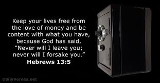 hebrews 13 verse 5